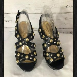 🌷Chinese Laundry Strappy Studded Heels Size 8